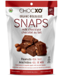 ChocXO Organic Milk Chocolate Salted Peanut Snaps