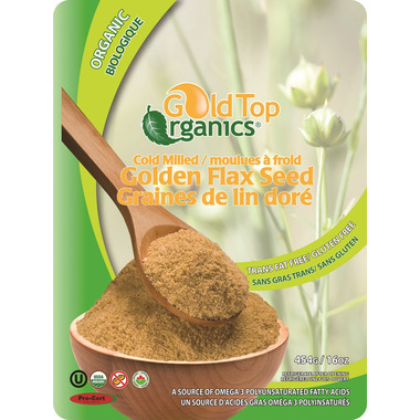 Gold Top Organics Cold Milled Golden Flax Seed