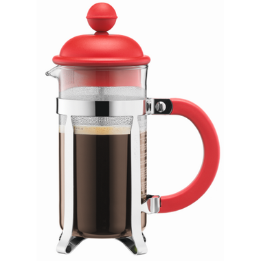 buy bodum caffettiera french press coffee maker red at free shipping 35 in canada. Black Bedroom Furniture Sets. Home Design Ideas