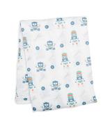 Lulujo Robots Muslin Swaddling Blanket