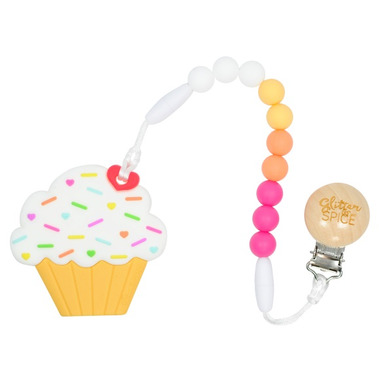 Glitter & Spice Cupcake Teether Raspberry Lemondae