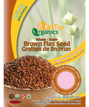 Gold Top Organics Whole Brown Flax Seeds