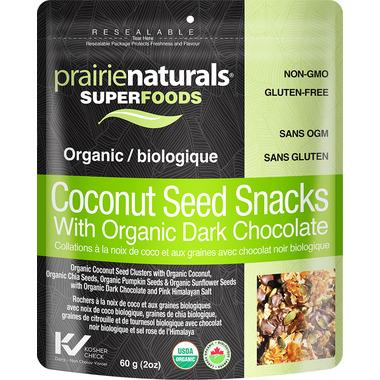 Prairie Naturals Organic Coconut Seed Snacks with Dark Chocolate