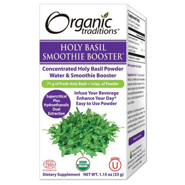 Organic Traditions Holy Basil Smoothie Booster