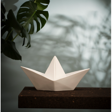 Goodnight Light Paper Boat Lamp White