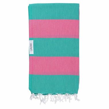Lualoha Turkish Towel Buddhaful Turquoise & Hot Pink
