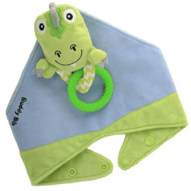 Buddy Bib 3-in-1 Sensory Teething Toy & Bib T-Rex