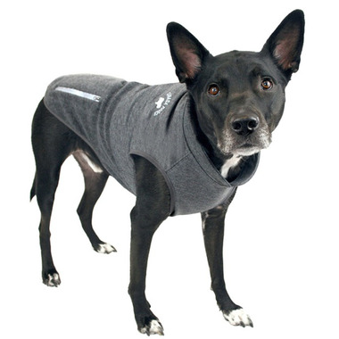 Canada Pooch Rocky Ridge Back-Zip Vest in Grey Melange Size 26
