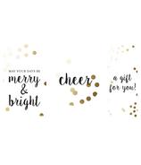 Graphique de France Gold Confetti Trio Boxed Gift Tags