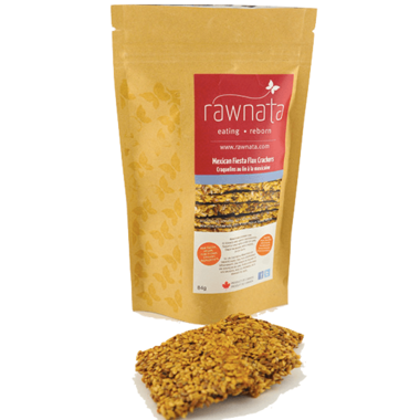 Rawnata Mexican Fiesta Flax Crackers
