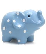 Child to Cherish Polka Dot Piggy Bank Blue
