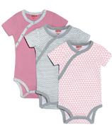 Skip Hop Petite Triangles Side-Snap Short Sleeve Bodysuit Pink