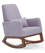 Monte Design Joya Rocker Natural Cotton Linen Blend & Walnut Base