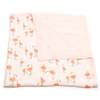 Little Unicorn Bamboo Muslin Quilt Pink Ladies