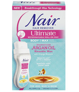 Nair Ultimate Microwavable Roll-On Wax with Moroccan Argan Oil for Body