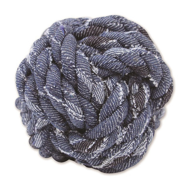 Mammoth Small 3.75 Inch Denim Rope Monkey Fist Ball