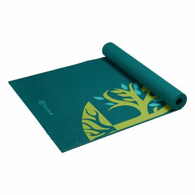 Gaiam Root to Rise Yoga Mat Green