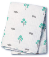 Lulujo Baby Muslin Cotton Swaddling Blanket Hippos