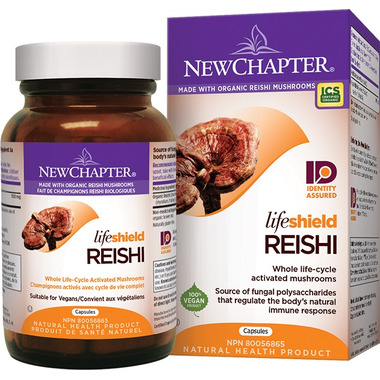New Chapter LifeShield Reishi Whole Life-Cycle Activated Mushrooms