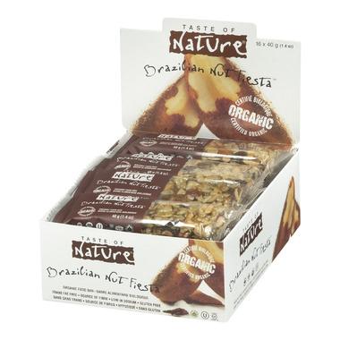 Buy taste of nature organic food bars case of 16 x 40 g for 788 food bar recoleta