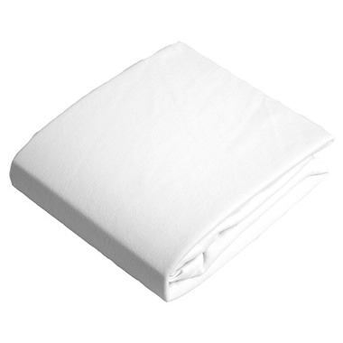 Kushies Flannel Fitted Crib Sheet White