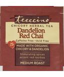 Teeccino Dandelion Red Chai Chicory Herbal Tea Sample