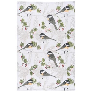 Now Designs Chickadee Print Tea Towel