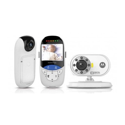buy motorola mbp27yt video baby monitor with touchless thermometer online in canada free ship 29. Black Bedroom Furniture Sets. Home Design Ideas