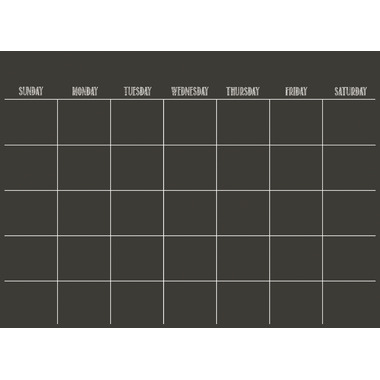 WallPops Black Dry Erase Monthly Calendar Decal
