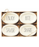 Mud Pie Bistro Tidbit Plates Set