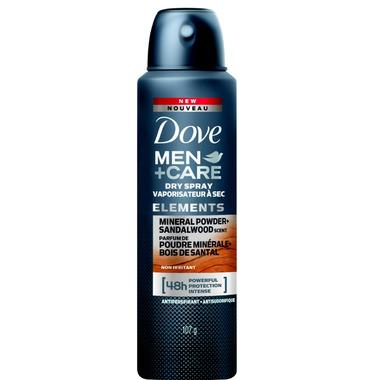 Dove Men+Care Elements Mineral Powder+Sandalwood Antiperspirant Dry Spray