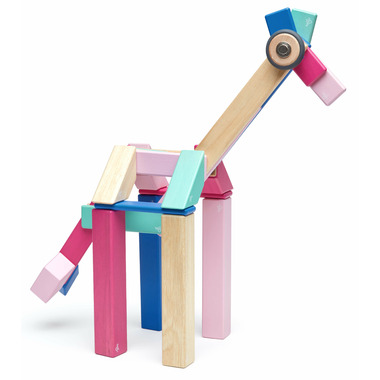 Tegu Magnetic Wooden Block Set Blossom