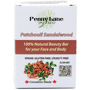 Penny Lane Organics 100% Natural Beauty Bar Patchouli Sandalwood