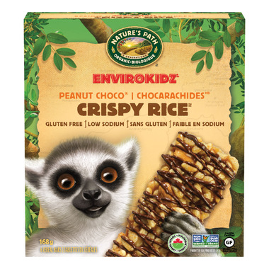 Nature\'s Path EnviroKidz Crispy Rice Peanut Choco Drizzle Bars
