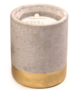 Paddywax Urban Concrete Pot Gold Amber & Smoke Candle