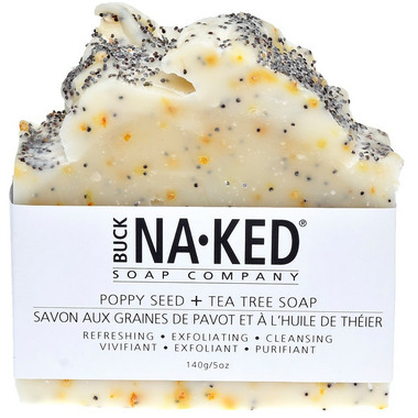 Buck Naked Soap Company Poppy Seed & Tea Tree Bar Soap