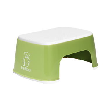 BabyBjorn Safe Step Stool Green & White