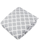 Kushies Flannel Fitted Crib Sheet Lattice Grey