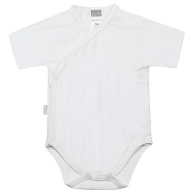 Kushies Side Wrap Short Sleeve Bodysuit White