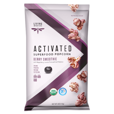 Living Intentions Superfood Popcorn Berry Smoothie