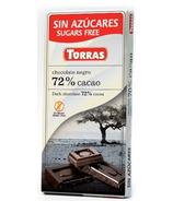 Torras Sugar Free Dark Chocolate 72% Cocoa