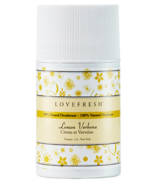 Lovefresh All-Natural Cream Deodorant Stick Lemon Verbena