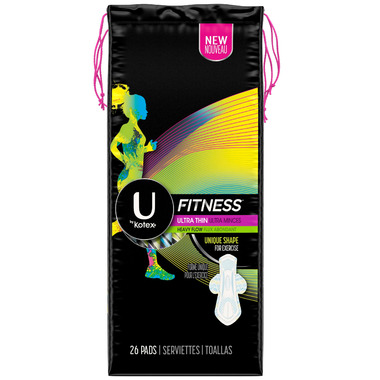 U by Kotex Fitness Ultra Thin Pads Heavy