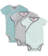 Skip Hop Petite Triangles Side-Snap Short Sleeve Bodysuit Blue