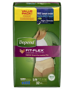 Depend for Women Underwear with FIT-FLEX Protection SM/MED