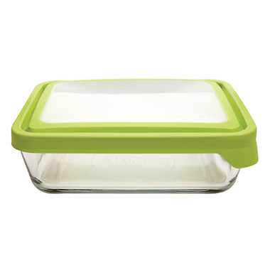 Anchor TrueSeal 6 Cup Rectangular Storage Container with Green Lid