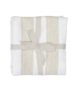 Harman Industrial Stripe Basketweave Tea Towels Tan and White