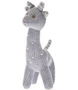 Beba Bean Knit Giraffe Rattle Grey Polka Dot