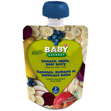 Baby Gourmet Banana, Apple and Beet Berry Baby Food