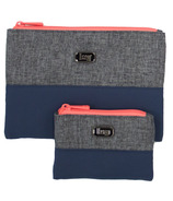 Lug Zipline Storage Pouches Heather & Navy
